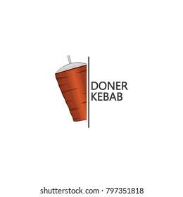 Doner kebab logo design vector template.