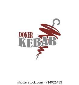 Doner kebab. Template for logo