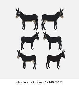 donkey animal vector design logo