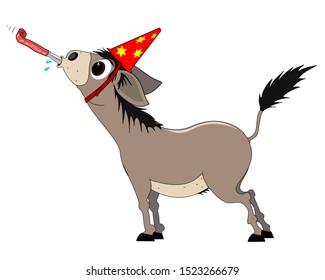 donkey celebrates the beginning of the new year