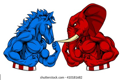 Image result for Donkey v. Elephant