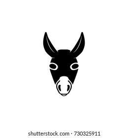 Donkey head icon on white background