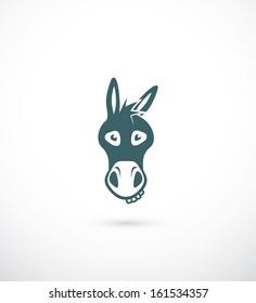 Donkey head - vector illustration