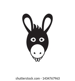 Donkey head vector on a white background