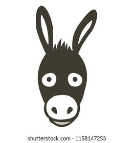 Donkey icon silhouette vector icon
