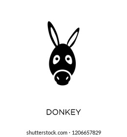 Donkey icon. Donkey symbol design from Animals collection. Simple element vector illustration on white background.