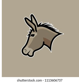 Donkey illustration. 100% vector. Ideal for logo's, stickers, flyers, promotions, T-shirts, web design, apps and all other design requirements.  .