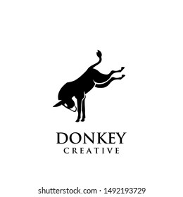donkey logo icon design vector illustration template