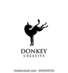 donkey logo icon design vector illustration template