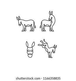 donkey logo icon designs