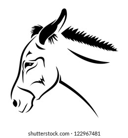 Donkey - vector illustration