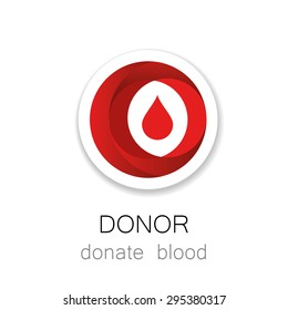 Donor - Donate blood. Medicine Cardiology Donor Healthy concept icon. World blood donor day - 14 June. Blood drop illustration.