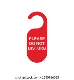 Don't disturb tag icon. Flat color design. Vector illustration.