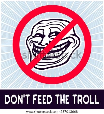 dont feed troll web internet troll stock vector royalty free