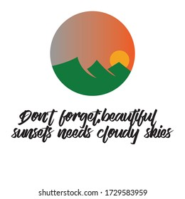 Dont forget beautiful, motivational quote. Isolated vector
