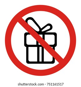 Don't give gifts. Vector illustration.