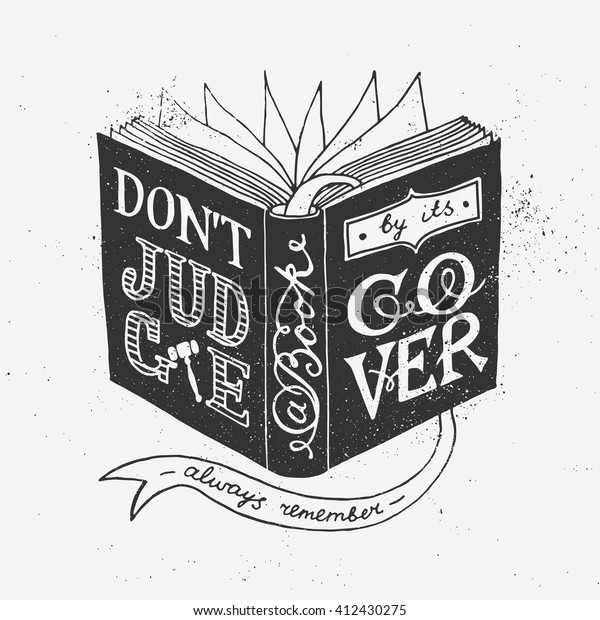 Dont Judge Book By Cover Quote Stock Vector (Royalty Free ...