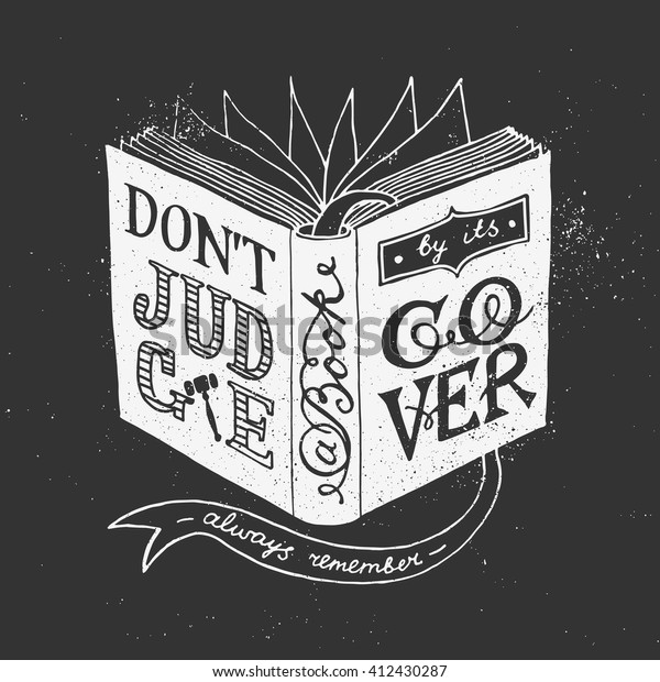 Dont Judge Book By Cover Quote | Royalty-Free Stock Image