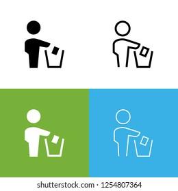 Dont Litter Icon Set