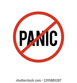 Don't panic icon vector. Don't panic symbol. Linear style sign for mobile concept and web design. Don't panic symbol illustration. Pixel vector graphics - Vector.