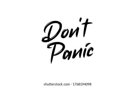 Don't panic text. Speach bubble with words. Dont panic. Printable graphic tee
