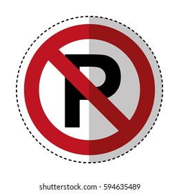 dont parking traffic sign