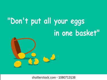 Don't put all your eggs in one basket with vector art