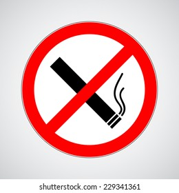don't smoke sign. vector illustration eps 10