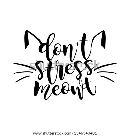 Dont Stress Meowt Funny Quote Design Stock Vector Royalty Free