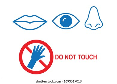 Don't touch face icon vector isolated
