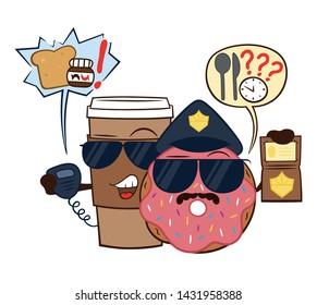 Donut and Coffee Hunger Police