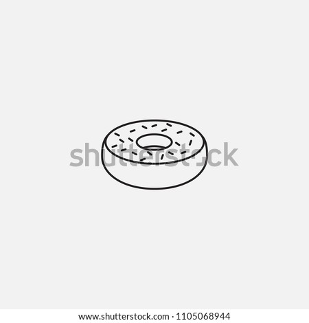 Donut Icon Template Design Stock Vector Royalty Free 1105068944