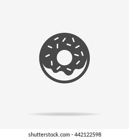 Donut icon. Vector concept illustration for design.