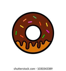 Donut icon vector illustration