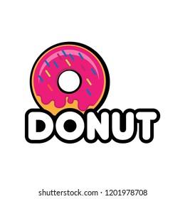donut logo concept. donut icon