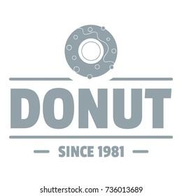 Donut logo. Simple illustration of donut vector logo for web