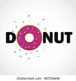 donut text logo