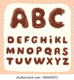 Donuts ABC with black chocolate