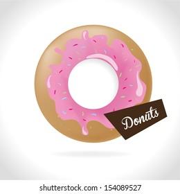 donuts design over gray background vector illustration