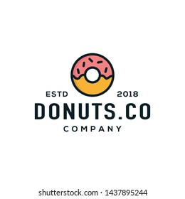 Donuts logo design concept. Suitable for donut store logo.