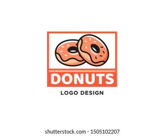 Donuts logo design. Logo vector template