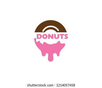 Donuts logo vector template