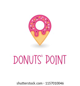 Donuts Point, logo for a donut shop