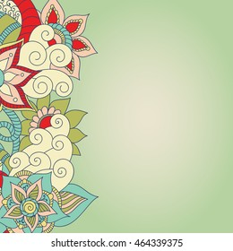 Doodle abstract flower. Vector illustration