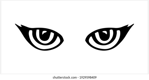 Doodle animal eye icon isolated on white. Vector stock illustration. EPS 10