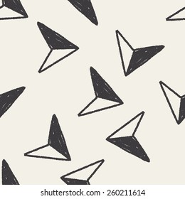 Doodle Arrow seamless pattern background