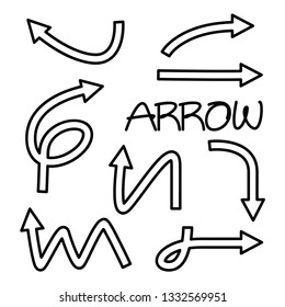doodle arrow vector illustration