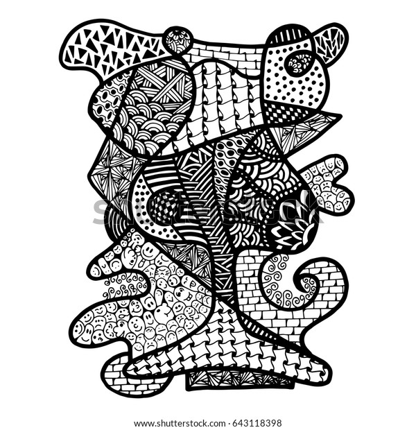 - Doodle Art Glass Coloring Page Stock Vector (Royalty Free) 643118398