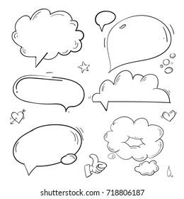 Doodle bables line draw