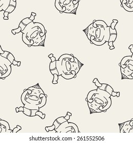Doodle Baby seamless pattern background